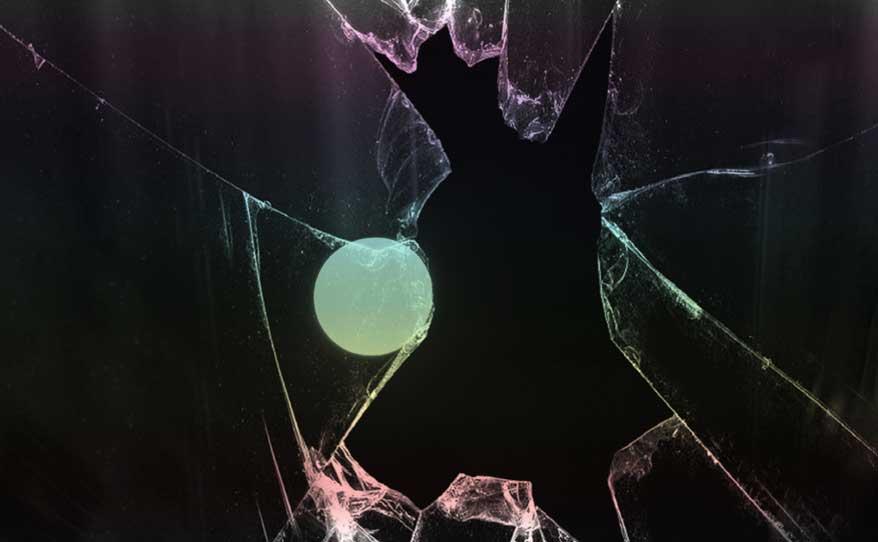 Foto: Zerbrochene Glasscheibe