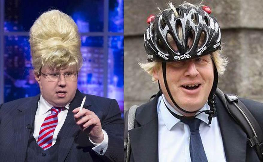 Foto: Portraits vom Schauspieler Matt Lucas und von Boris Johnson